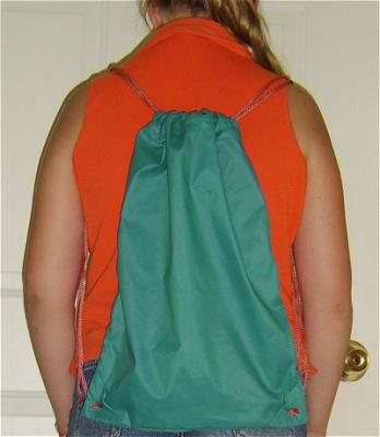 A Finished Drawstring Backpack