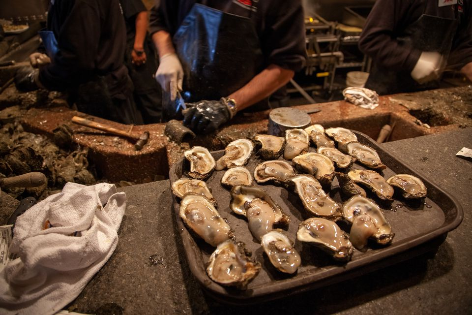 Oysters at famous Drago's restaurant, New Orleans