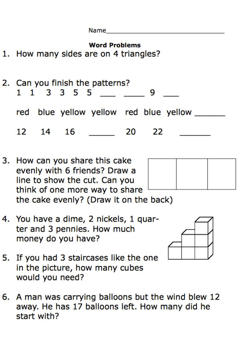 Printable SecondGrade Math Word Problem Worksheets – Algebra Word Problems Worksheet