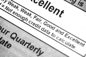 Paper stating excellent credit score