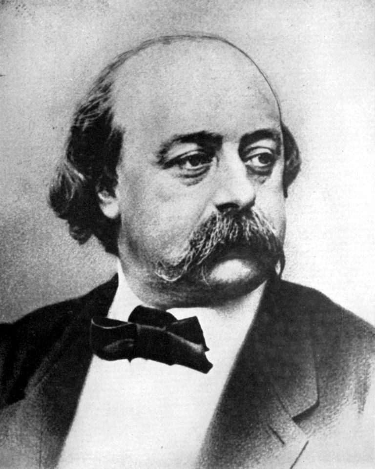 Gustave Flaubert, French novelist, 19th century.