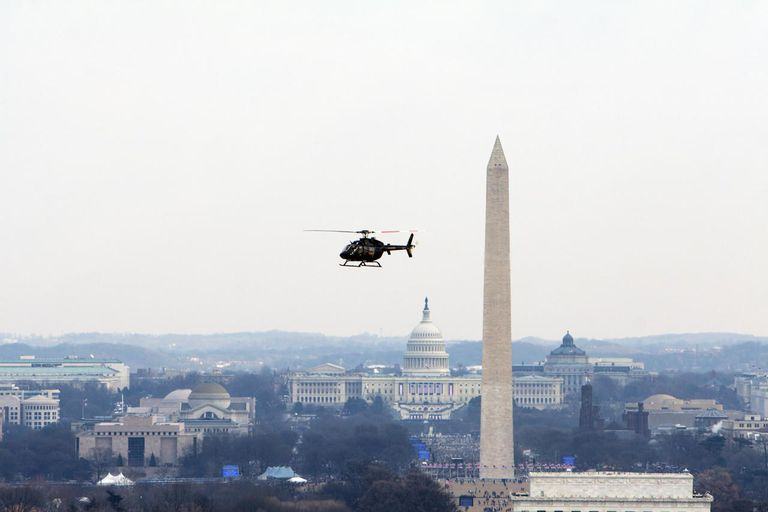 Flying Helicopter during Obama Inauguration
