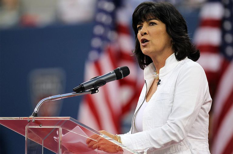 TV personality Christiane Amanpour speaks during the opening ceremony of the 2010 U.S. Open