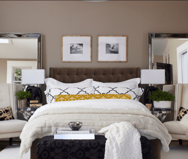 Brown with Yellow Accents. Brown Bedroom Inspiration  Great Ideas and Tips