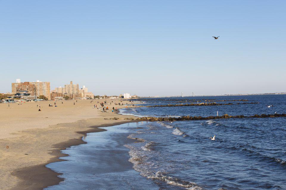 Coney Island on a sunny day.