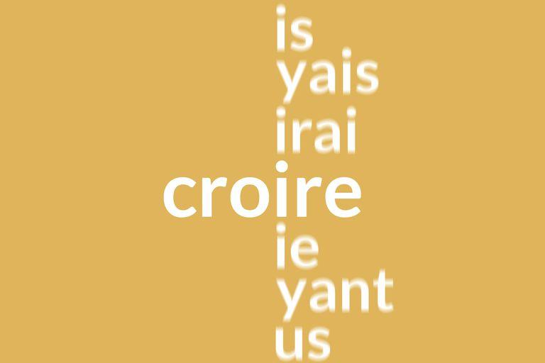 French croire conjugation