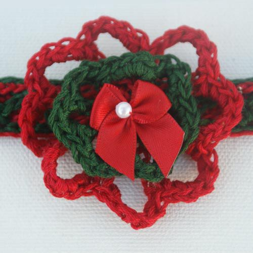 Christmas Flower Necklace