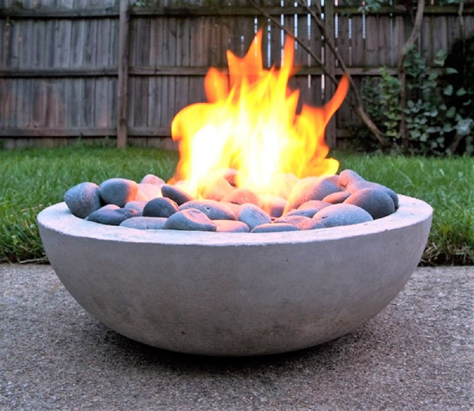 Images of backyard fire pits - Diy Concrete Fire Pit