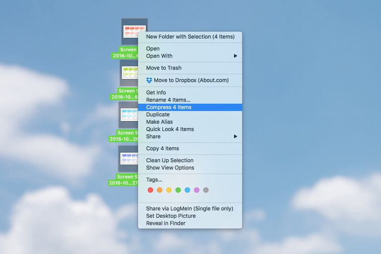 zipping files on mac