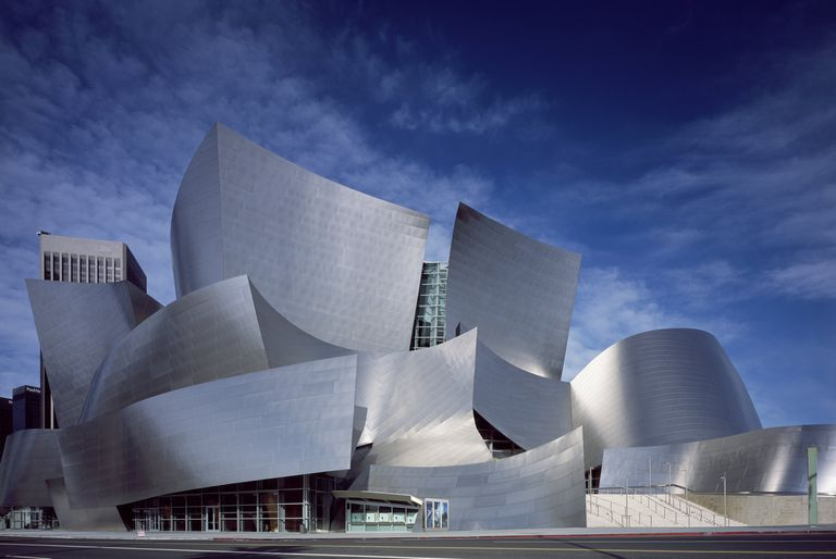 Modernist Walt Disney Concert Hall, Los Angeles, California, Designed by Architect Frank Gehry