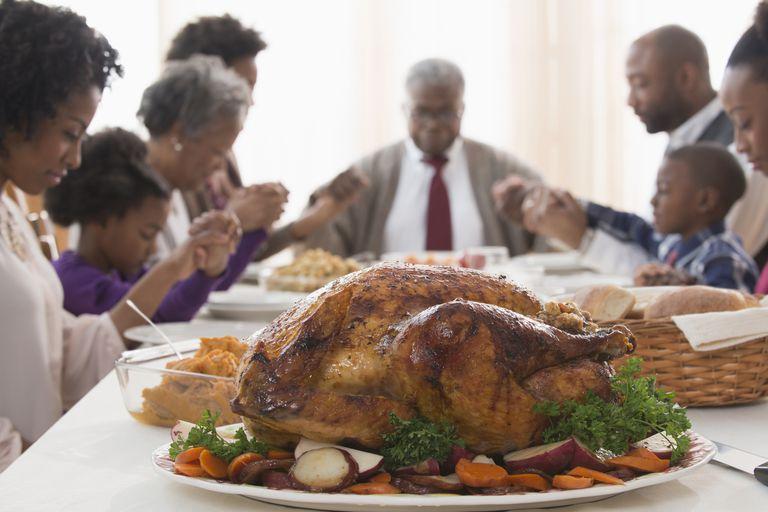 Turkey on Thanksgiving table
