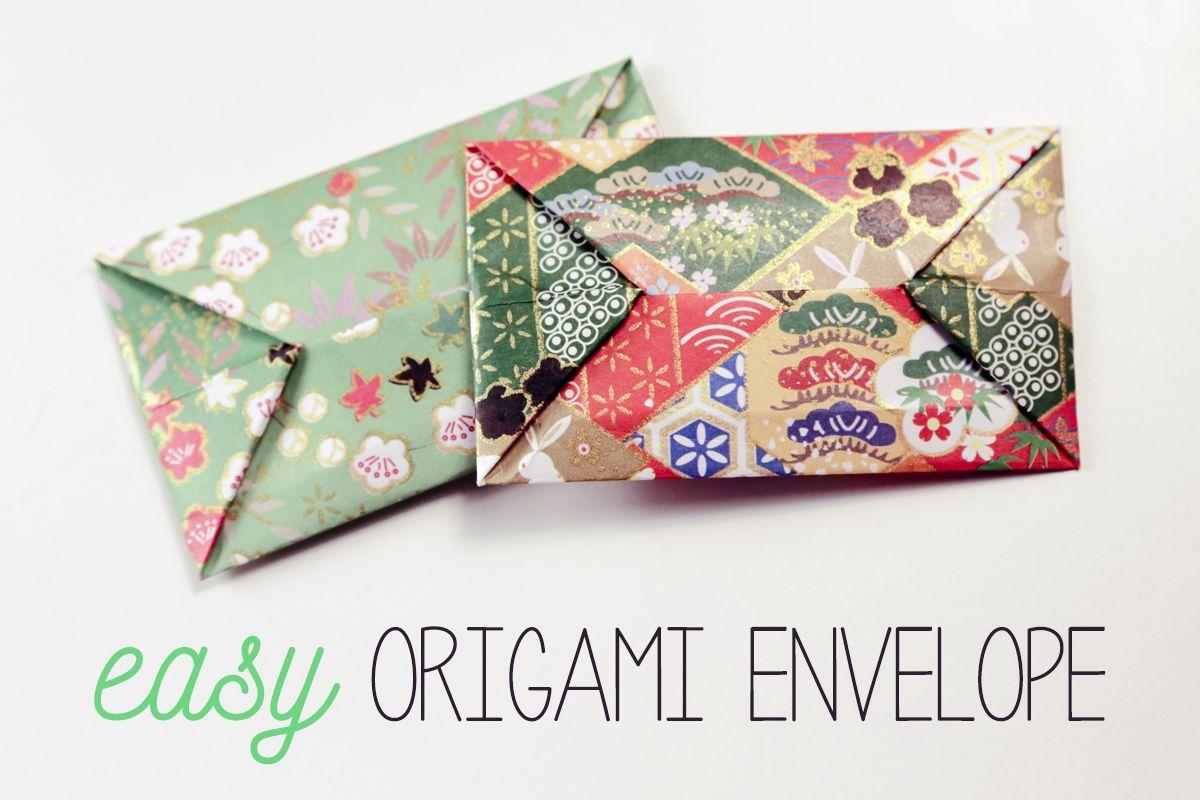 Easy origami envelope instructions jeuxipadfo Image collections