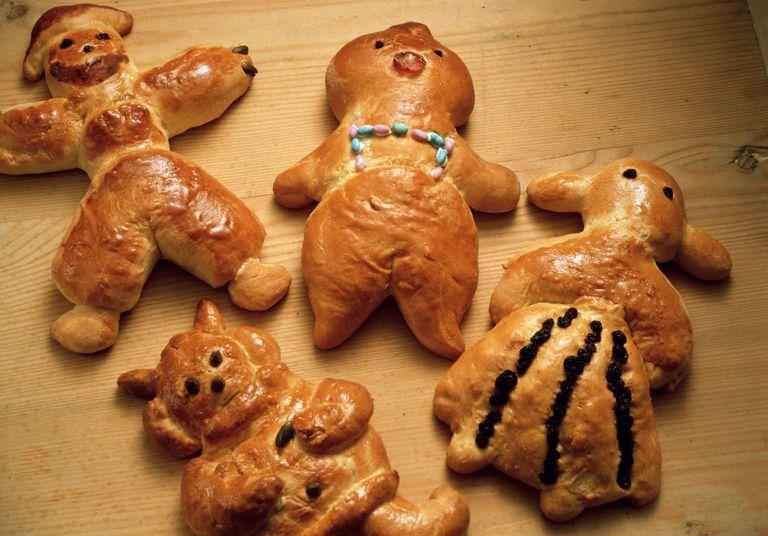 Four Bread Figures