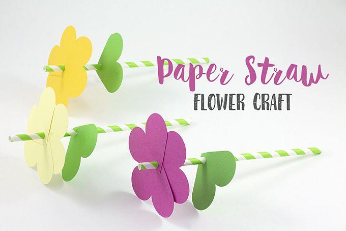 Paper Straw Flower Craft