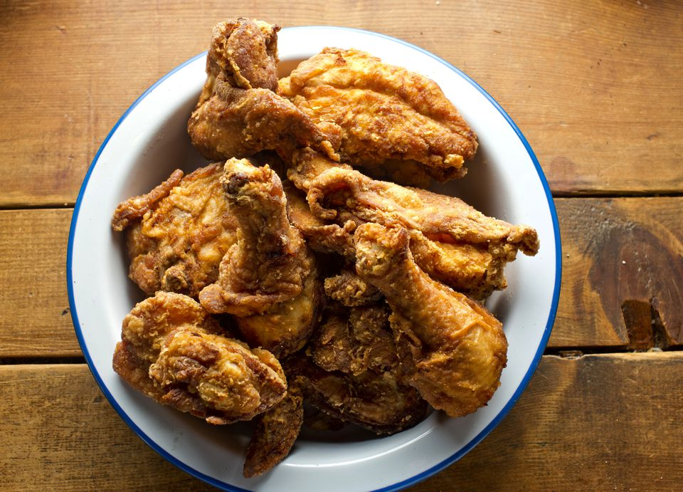 fried chicken on table