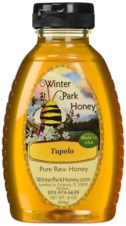 100% Pure Raw Tupelo Honey 16oz by Winter Park Honey