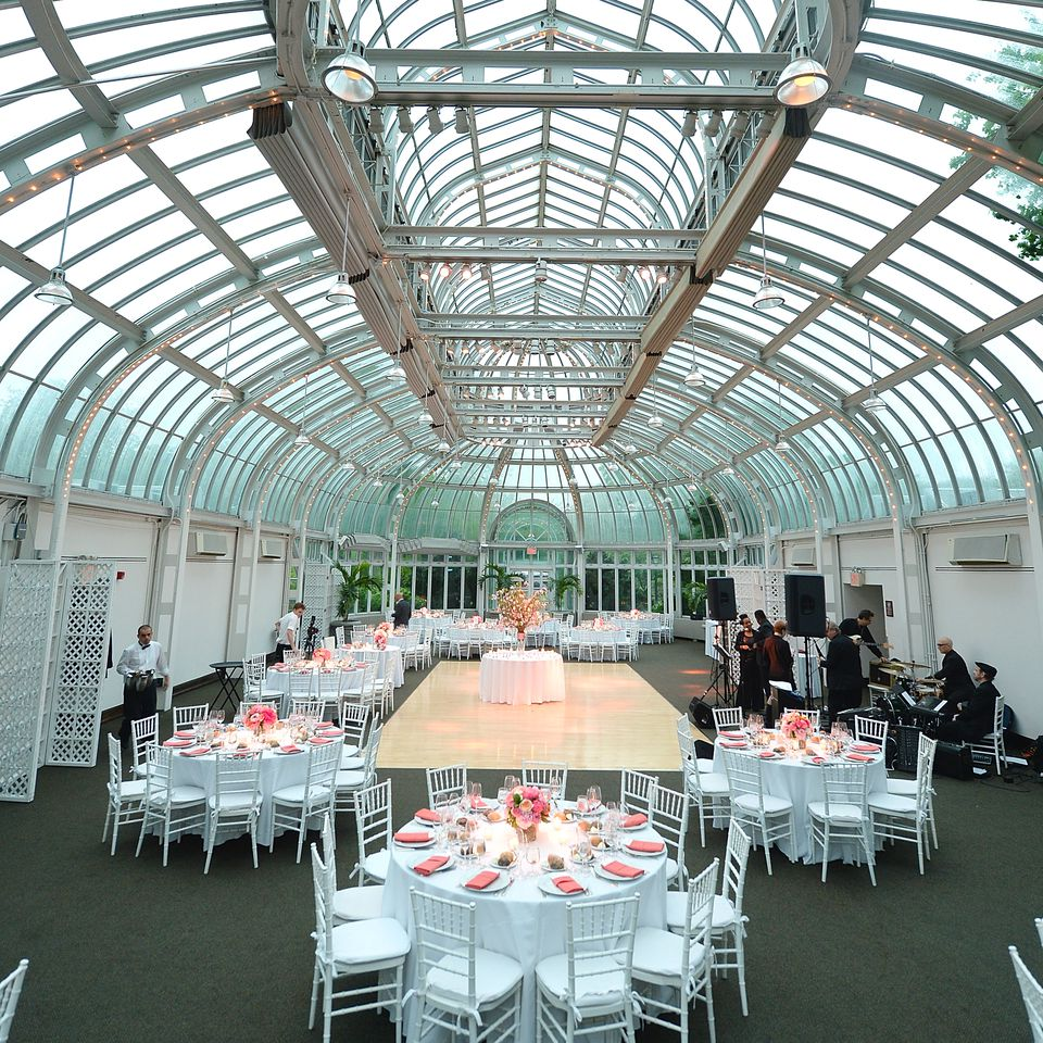 The best nyc wedding locations a view of a wedding reception at the brooklyn botanic garden junglespirit Gallery