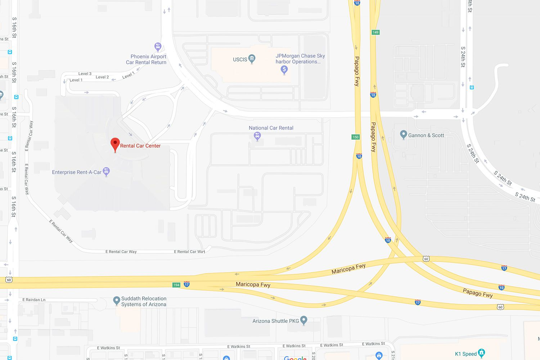 Rental Car Center In Central Phoenix