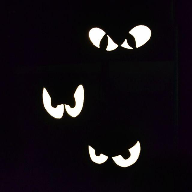 DIY Glowing Spooky Eyes