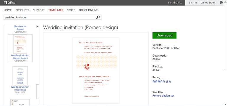 Make Wedding Planning Easier Using Microsoft Office - Wedding invitation templates: wedding invitation templates word document