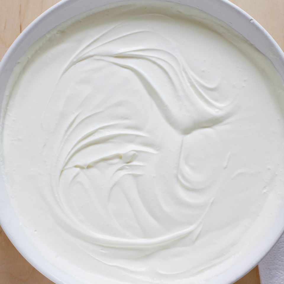 Whipping cream in bowl