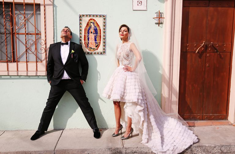 A bridal couple in Mexico.