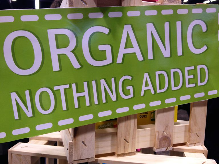 organic - nothing added sign