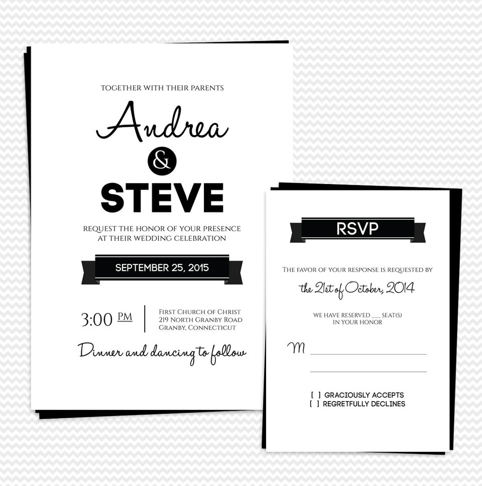 Print Wedding Invitations At Home: 16 Free Printable Wedding Invitations