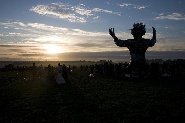 Stonehenge Summer Solstice 2010 - The Ancestor (semi-silhouette)