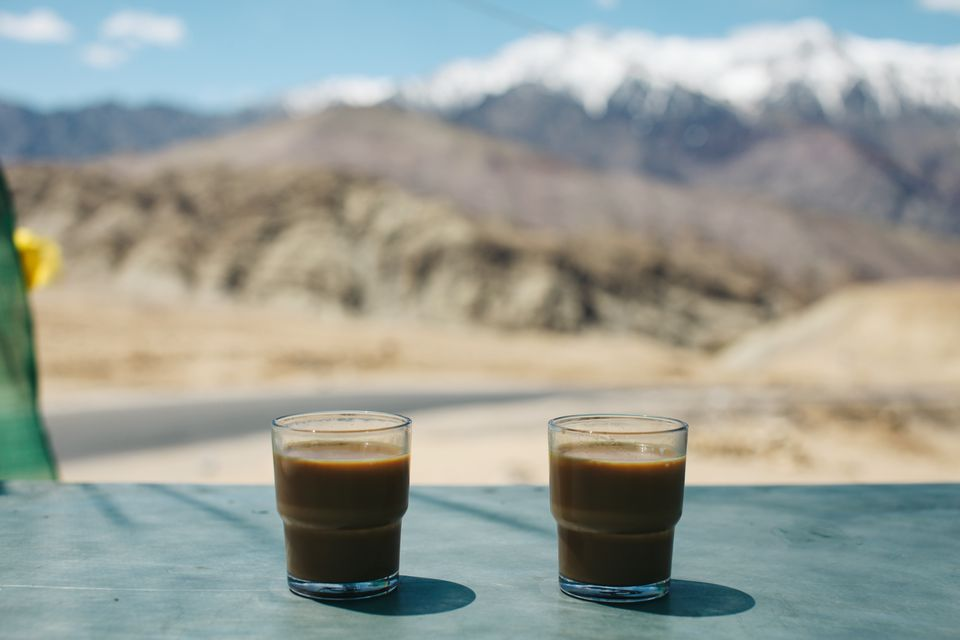 Two glasses of chai