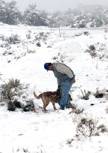 Snow in Carefree, AZ