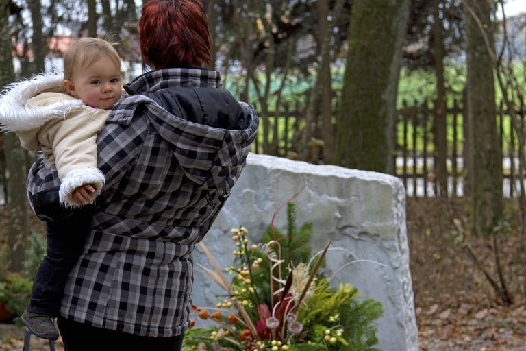 Mother and Baby at Grave