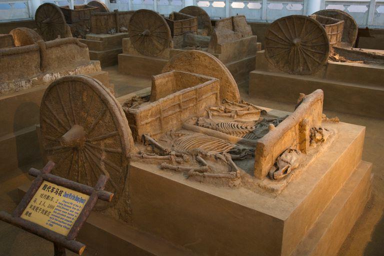 Shang Dynasty Chariot from Royal Tomb at Yinxu