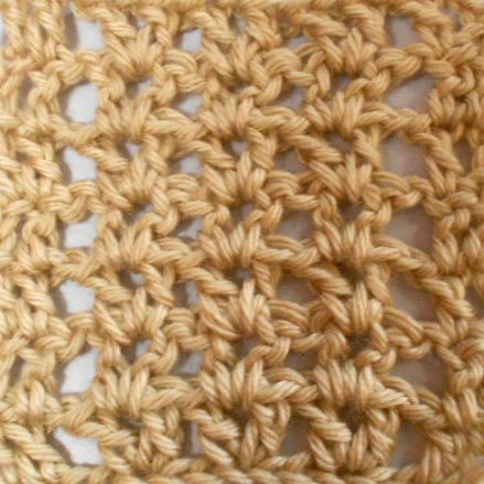 Completed Rows of Basic Crochet V Stitch