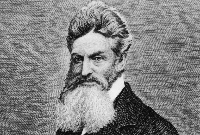 Engraved portrait of abolitionist fanatic John Brown