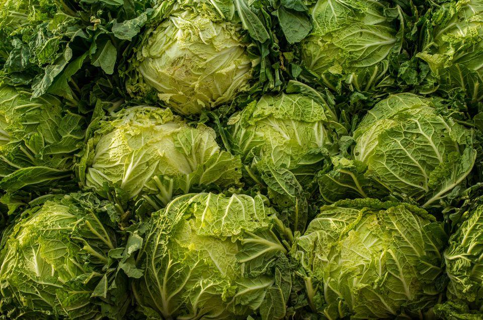 Detail Shot Of Cabbage