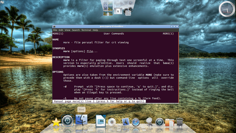 The Linux More Command