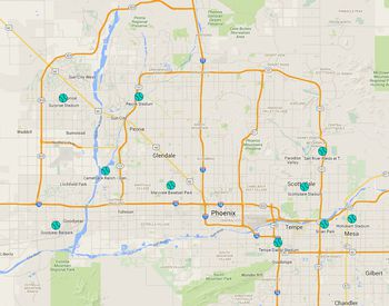 Overview And Map To University Of Phoenix Stadium In Az