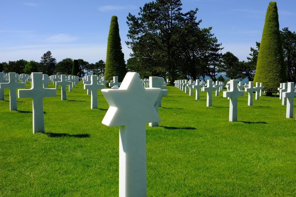 The Normandy American Cemetery in Colleville-sur-Mer