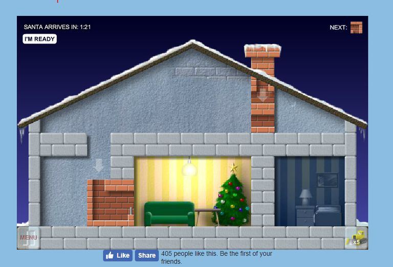 A screenshot of the game Santa's Chimney Trouble