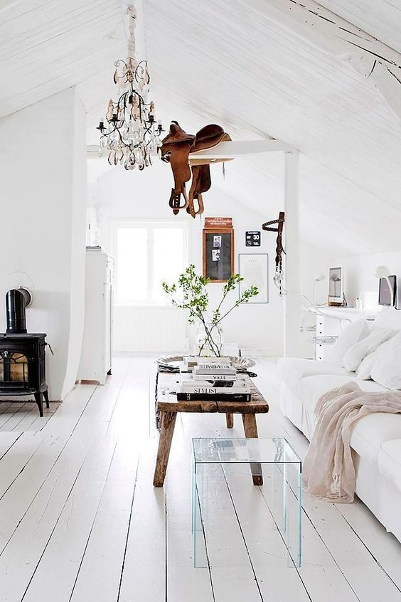 Modern living room in Swedish decorating style