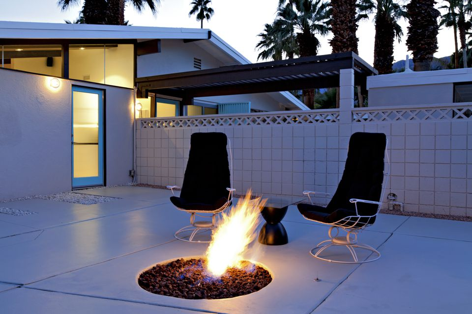modern concrete patio. Midcentury Modern Palm Springs Patio Concrete