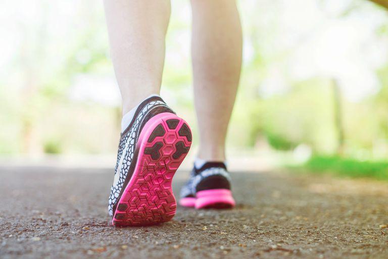 Women in sports shoes