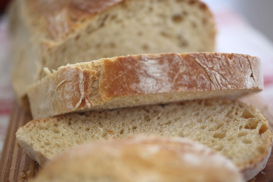 Slices of country bread