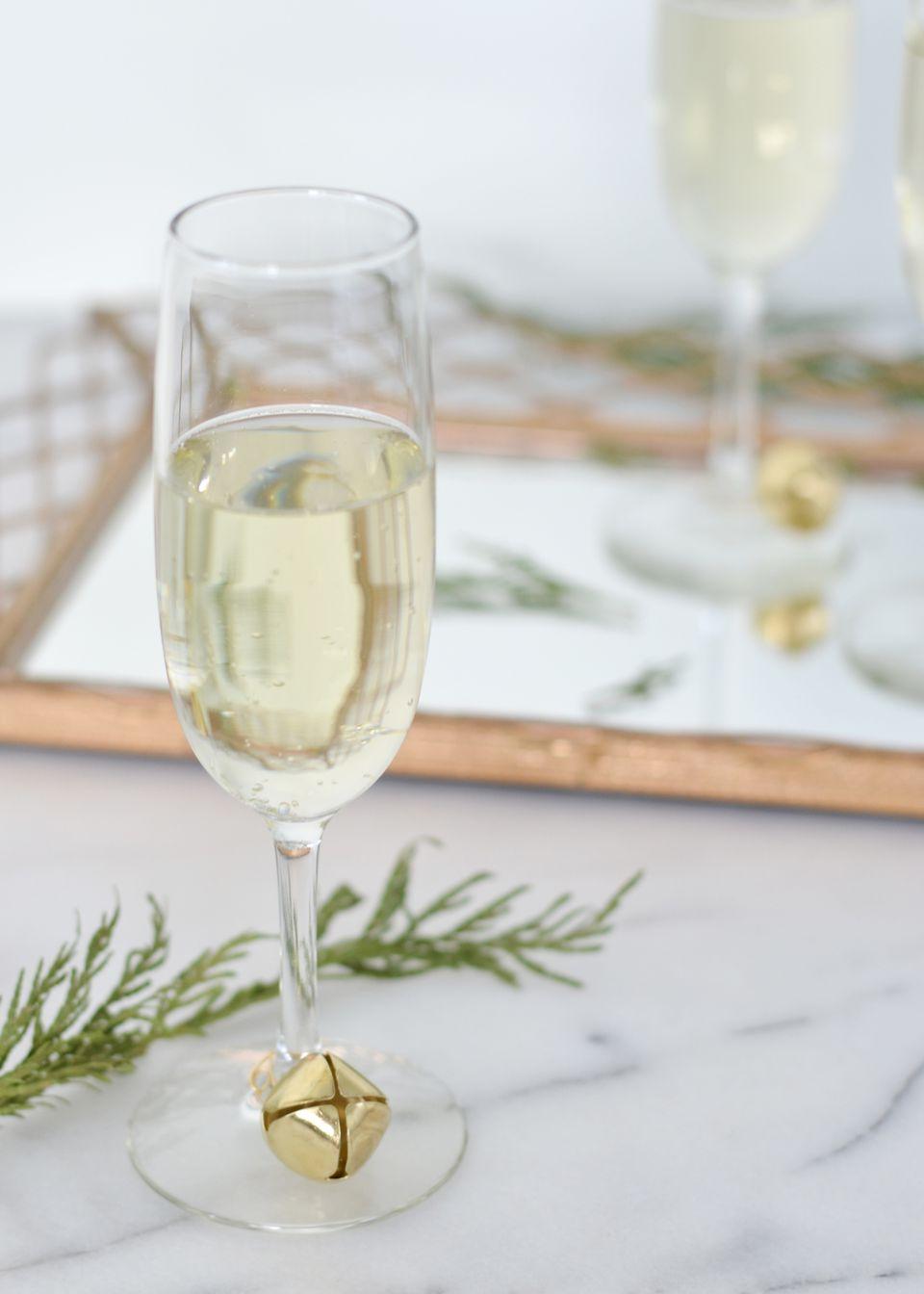 DIY Jingle Bell Wine Glass Charm