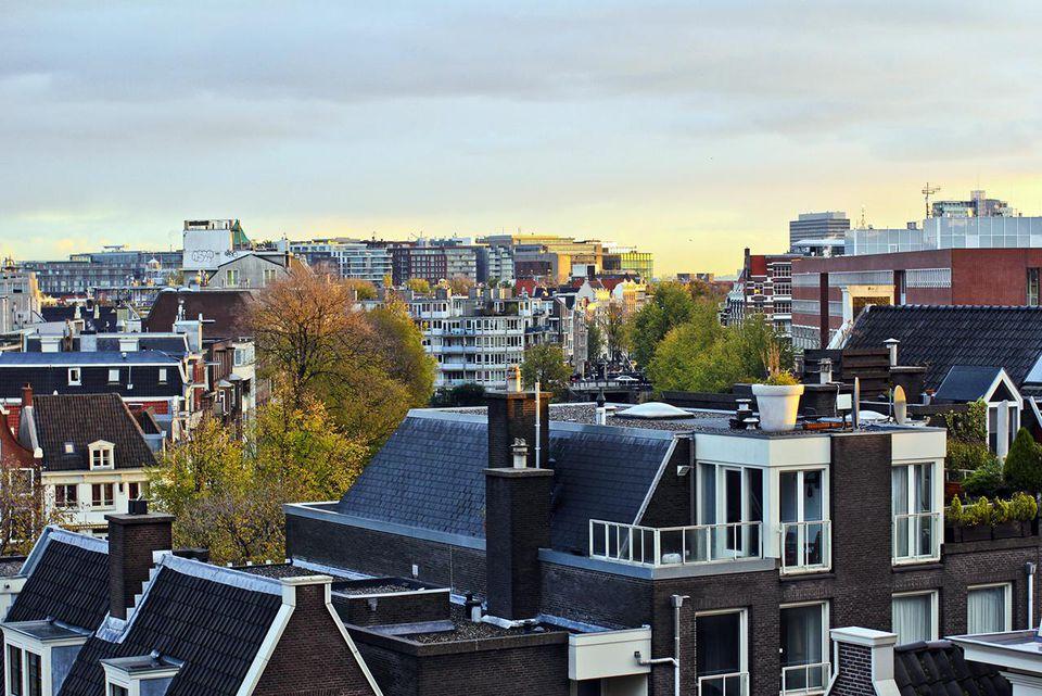 Geotagged aerial view of Rembrandtplein, Amsterdam, Noord-Holland, Nederland