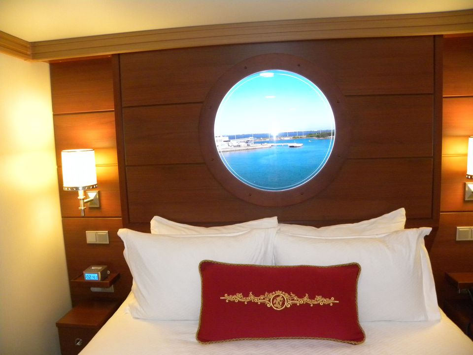 Disney Dream inside cabins have a video porthole that shows outside the ship.