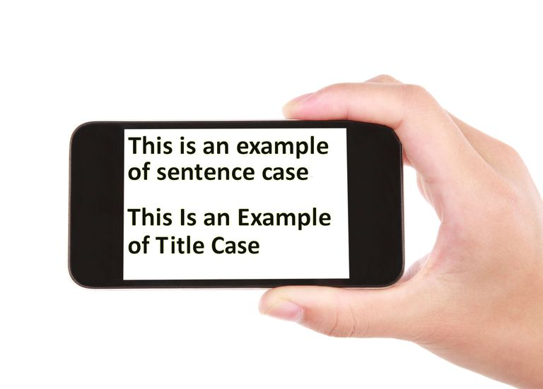 sentence case and title case