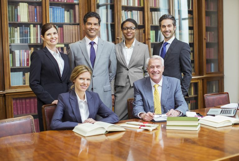 lawyers together in chambers