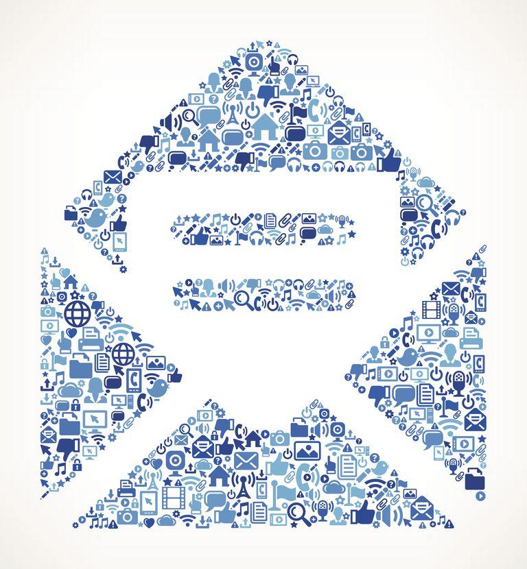 Open Envelope on vector technology pattern Background